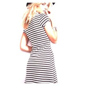 FP Beach Free People Stripe A Line Dress Medium